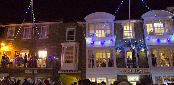 Southwold, Suffolk on christmas